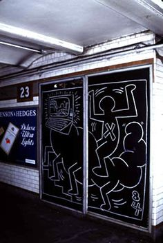 Haring in the Subway