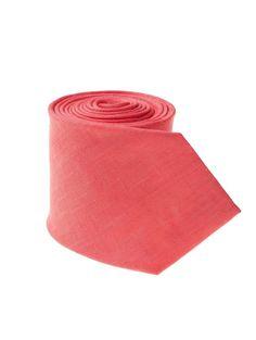 Coral Linen Tie - Men's Linen Ties & Linen Clothes| Island Company