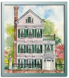 CHRL3388 exterior - another Charleston inspired home. Can I have it on the ocean as well?