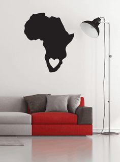 Love Africa South Africa Wall art Stickart