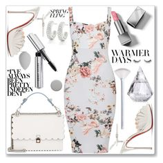 """""""Warmer Days Ahead: Spring Dresses"""" by kiveric-damira ❤ liked on Polyvore featuring Fendi, Christian Louboutin, Monica Vinader, NYX, Bobbi Brown Cosmetics, Burberry, beautyblender and springdresses"""