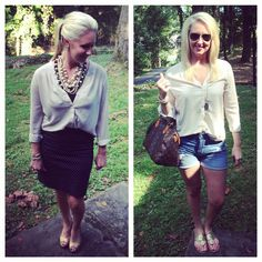 Talking about transitional blouses on Sizzle, Sparkle & Sass tonight! ✨ How can you not love a blouse that can go from work to play?!  Happy  Day friends!!  #blog #blogged #blogger #igfashion #fashion
