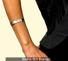 Sterling Silver Message Engraved Bracelet / Gift from NadinArtDesign by DaWanda.com