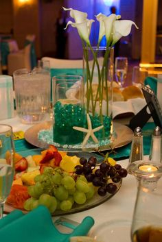 Formal Beach Themed Wedding :  wedding aqua beach black blue brown centerpieces chargers diy gold green inspiration ivory navy orange pink purple reception red silver starfish teal white yellow IMG 8456