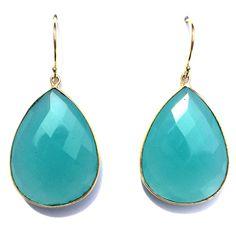 Teardrop Blue Chalcedony  http://www.peytonwilliam.com/new-products-2/teardrop-blue-chalcedony-earrings