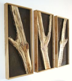 Branch wall hangings by Virginia Birchfield