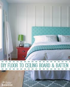 Floor to Ceiling Board and Batten tutorial at The Happy Housie