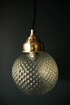 Glass Orb Ceiling Light