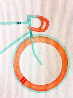 Watercolour Bicycle, by Serena Olivieri