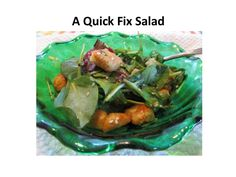 Quick Fix Salad : A quick fix salad with croutons and sesame. Light ...