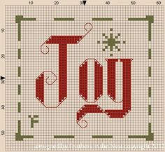 Joy Christmas Cross Stitch