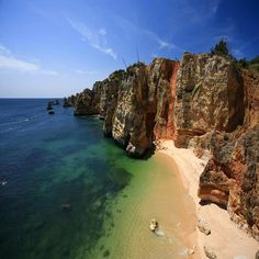 algarve portugal cliffs ocean sea