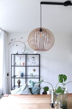 Wood Lamp / Wooden Shade Lamp / Hanging Lamp / Hanging Lamp / Decorative Ceiling Lamp / Modern Lamp - All For House İdeas Ceiling Decor, Ceiling Lamp, Wooden Lampshade, Diy Lampshade, Hanging Lamp Shade, Rustic Lamp Shades, Bright Homes, Bedroom Lamps, Cool Lighting