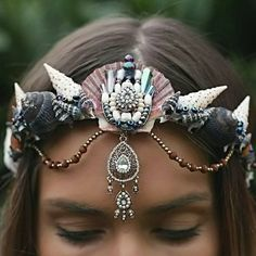 Mermaid crown I own three crowns from Chelsea's Flower Crown etsy shop! They...