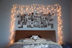 I love the fairy lights around the photos :)