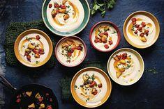 Bewaar recept knolselderij-bonensoep met chorizo en karamelappel aantal 4 | voorgerecht | doordeweeks, feestelijk, kerst | | Er gaat niets boven een dampende kom soep. De heerlijke aardse smaak van knolselderij gaat perfect in deze soep met kruidige chorizo en zoete karamelappel. kooktijd30 minutentotale tijd30 minuten ingrediënten2 el olijfolie50 g boter1 ui fijngesneden1 prei alleen … Chorizo, Fabulous Foods, Love Food, Soup Recipes, Brunch, Yummy Food, Delicious Recipes, Food And Drink, Meals