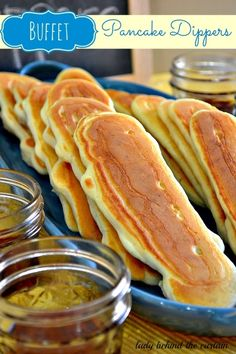 Lady Behind The Curtain - Buffet Pancake Dippers - with bacon inside!