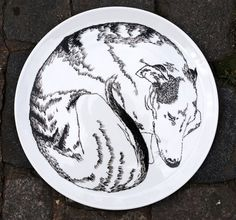 Serving Plate - Dog Sleeping