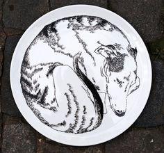 Serving Plate - Dog Sleeping