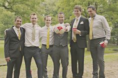 The Groom and his soccer team.
