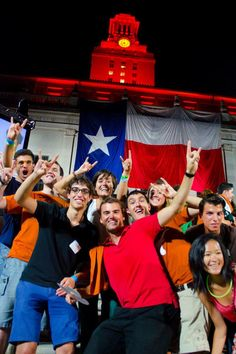Front and center at the 2012 Gone to Texas celebration are UTSOA's exchange students, Juan Verdeguer Planelles and Araceli Franco Gutierrez #utaustin #utsoa #architecture #event #students