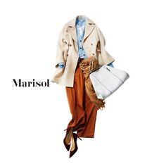 実家に帰省。重くなりがちな冬コーデにライトブルーちらりで爽やかに【2017/12/29コーデ】Marisol ONLINE|女っぷり上々!40代をもっとキレイに。
