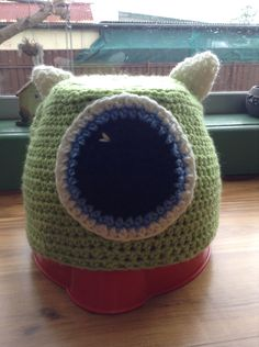 Monsters inc beanie. Made it ages ago just forgot to pin it:) - inspired by Pinterest