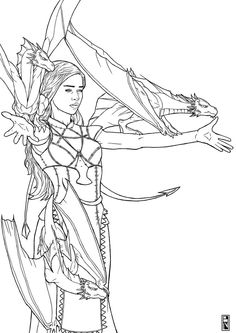 daenerys targaryen outline - Google Search