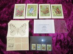 1981 British Post Office BUTTERFLIES 4 Stamp Presentation Pack + 4 Postcards