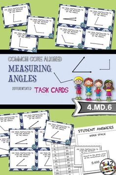 Measuring Angles (Using a Protractor) Task Cards comes with 20 Common Core Aligned Task Cards for the middle grades! Perfect for math centers, small group instruction, remediation, extensions, class review, test prep, or a fun round of SCOOT, these task cards will be the perfect addition to your Measurement & Data unit.