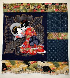 Geisha art quilt by Lynda Lasich. Mountain Art Quilters: January's Show and Tell