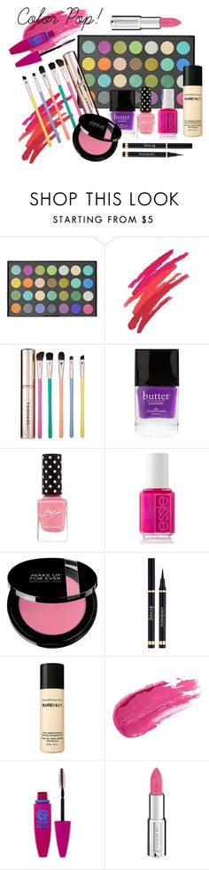 Color Pop! by stylebycharlene on Polyvore featuring beauty, Sephora Collection, Maybelline, Givenchy, Revlon, Butter London and Essie