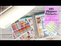 How to Make Planner Stickers | Silhouette Portrait - YouTube