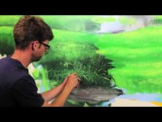 "Clip from ""How To Paint Grass & Hills"" with Mural Joe - YouTube"