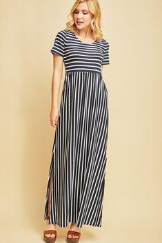 4a01589175f24 Shop Jess Lea Boutique Amy Striped Maxi Dress  jessleaboutique  jesslea   jessleastyle  onlineboutique