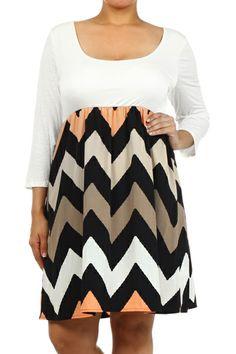 gogetgretta - Plus Size Chevron Skirted Dress, $69.00 (http://www.gogetgretta.com/plus-size-chevron-skirted-dress/)