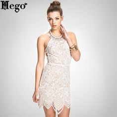 HEGO 2015 Free Shipping Hot Summer Dress White Backless Prom Dress With Factory Direct MX228