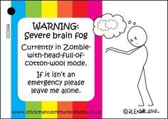 Brain Fog keyring card