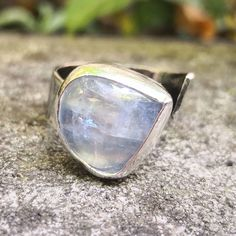 Moonstone and sterling silver open statement ring by Lilly Alexandra Jewellery Fashion Tips For Women, Ladies Fashion, Fashion Brands, Womens Fashion, Presents For Women, Handmade Shop, Handmade Gifts, Unique Gifts, Animal Print Fashion
