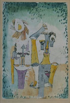 Paul Klee, Schwarzmagier, 1920 Ölpause und Aquarell auf Kreidegrundierung auf Karton on ArtStack #paul-klee #art