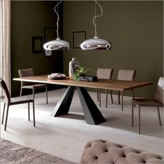 cattelan italia eliot wood drive extending dining table | dining table | cattelan italia | contemporary furniture