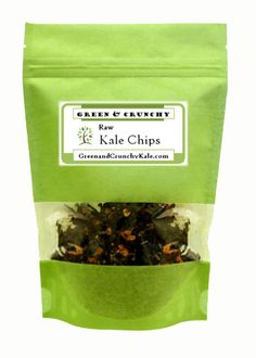 Kale kale kale...the Jalapeño Cheddar kale chips from Green & Crunchy Kale are my favorite flavor.  It's hard to believe something so good for you can taste so sinful!
