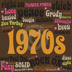 70s Phrases and Slangs by Wetnose1, via Dreamstime