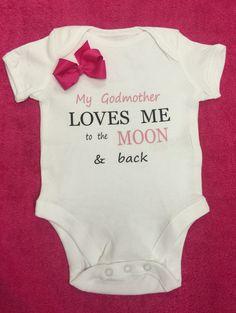 Baby Romper My Godmother in Nebraska Loves Me