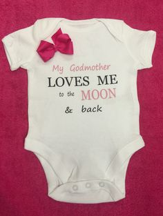 Moon & back or Godmother  1 x bodysuit or 1 x by BABYGROWSTREET
