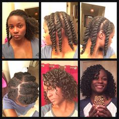 Fabulous twist out using the flat twist method.