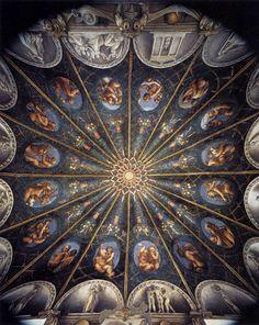 Antonio Allegri detto Correggio - Camera di San Paolo o della Badessa, 1518 Monastero di San Paolo a Parma