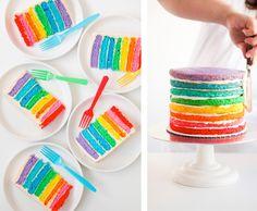 Bolos Coloridos para Festa Arco Íris