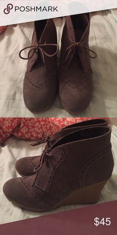 Boot wedges Lightly worn Mia Shoes Ankle Boots & Booties