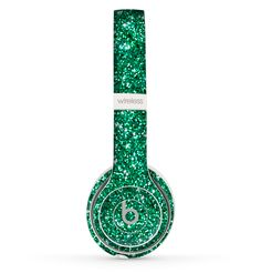 The Green Glitter Print Skin Set for the Beats by Dre Solo 2 Wireless Headphones Glitter Uggs, Glitter Shoes, Green Glitter, Cute Headphones, Sports Headphones, Wireless Headphones, Bluetooth, Cheap Beats, Glitter Hair Spray